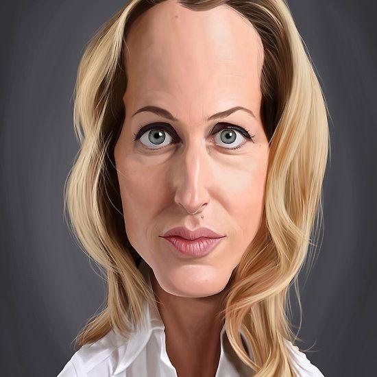 Gillian Anderson art | decor | wall art | inspiration | caricature | home decor | idea | humor | gifts