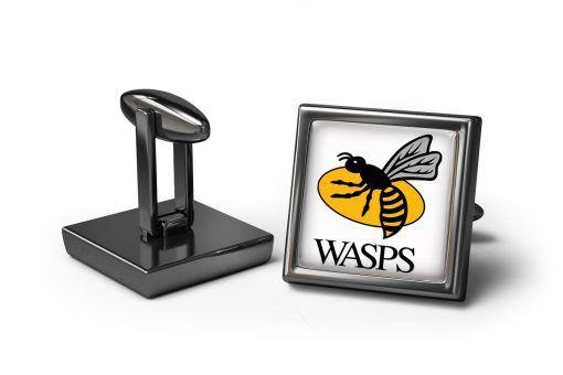 Wasps Rugby Cufflinks #cufflinks #rugby #team #sports #cufflinksformen #menscufflinks