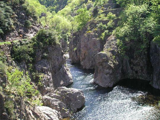 La beauté des paysages des gorges de l'Ardèche