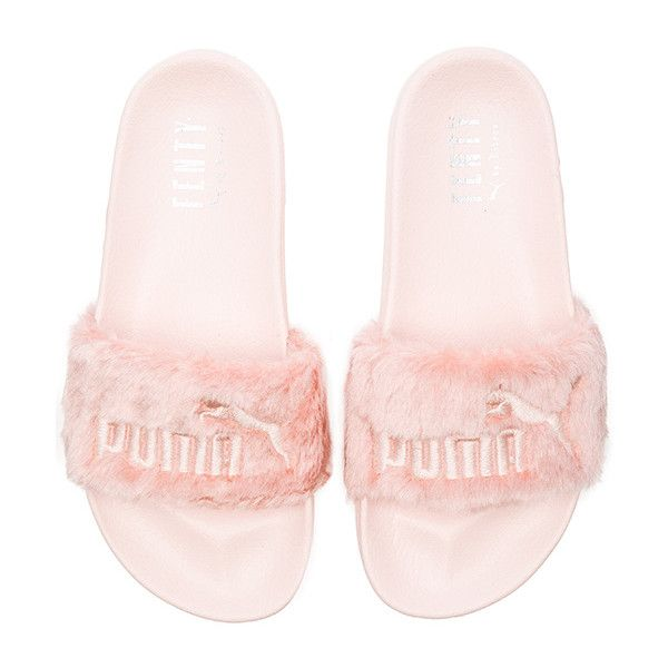 Puma x Rihanna Leadcat Fenty Sandal ($76) ❤ liked on Polyvore featuring shoes, sandals, puma footwear, puma sandals and puma shoes