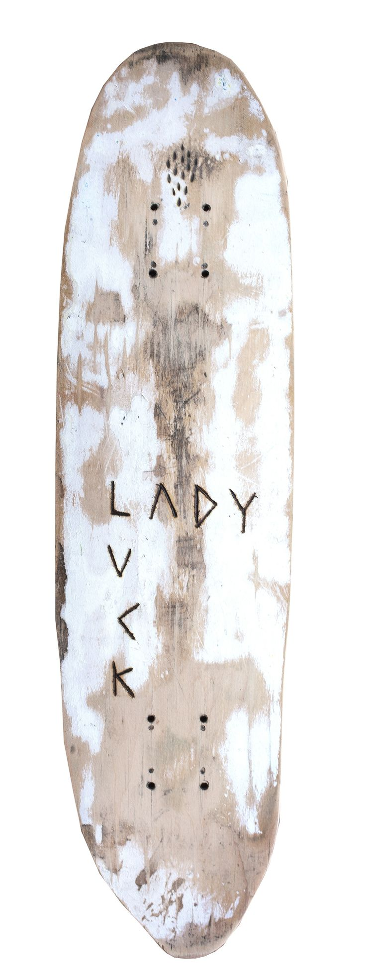 Lady Luck | Part of the Skateboard Trophies Series by Luke Chiswell | Buy Affordable Art Online Exclusively on Tappan Collective