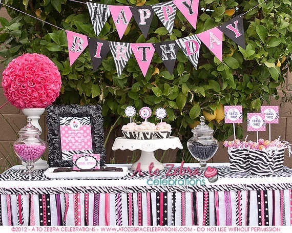 137 best All things ZEBRA images on Pinterest Birthday party