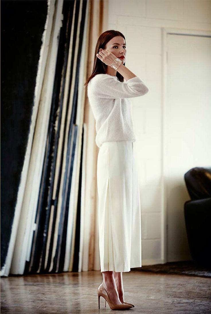 """naimabarcelona: """" knitted jumper by Filippa K; trousers by Escada; bracelet by Cornelia Web; pumps by Alexandre Birman. """""""