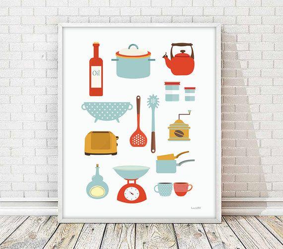 laminas cocina, laminas decorativas, laminas tazas, utensilios cocina, poster tazas, poster imprimible, laminas a4, laminas decorativas