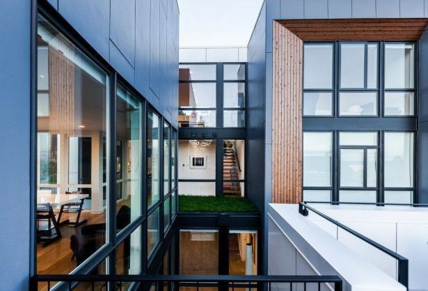 Apartment, Cool House Cool Window Panes Cool Exterior Wall Idea: A Perfect Inspiration for Every Young Family