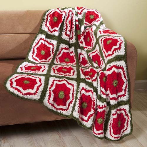Crochet Xmas Flower Pattern : 1000+ images about Crochet Christmas Afghans/Throws ...