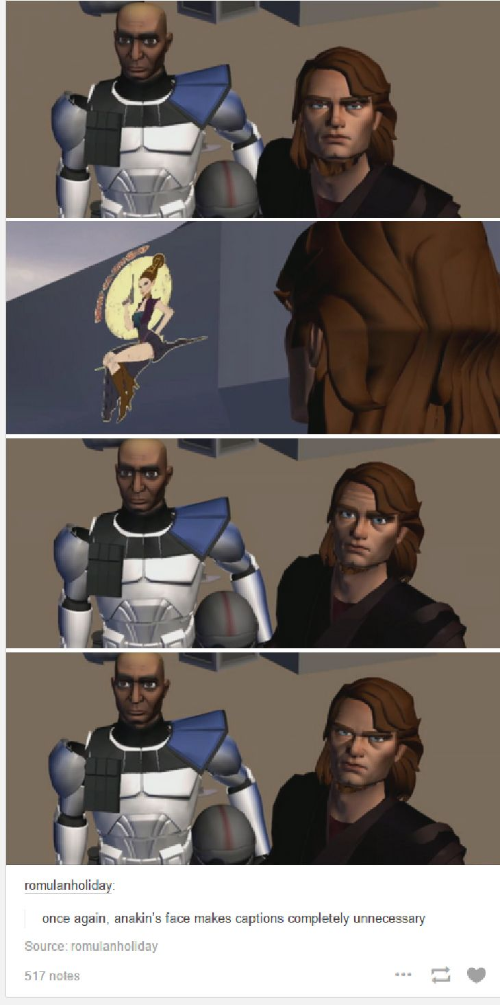 """HAHAHA! When I saw this part of the clone wars, it KILLED me. ANAKIN: """"That is NOT staying up there!"""""""