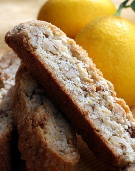 Mmmmm...Lemon Walnut Biscotti. I can't wait for summer to start. :)