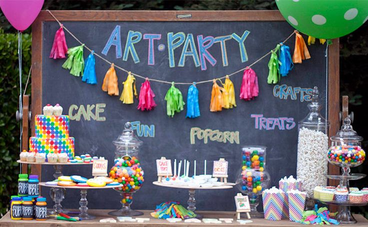 The TomKat Studio: Nancy O'Dell's Rainbow Art Party :: Featured Party