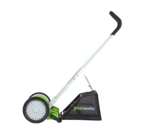 GreenWorks 25052 16-Inch Reel Lawn Mower with Grass Catcher  http://www.handtoolskit.com/greenworks-25052-16-inch-reel-lawn-mower-with-grass-catcher-2/