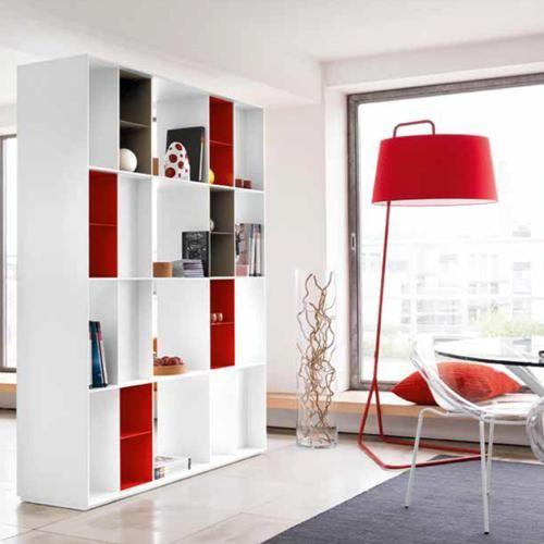 Division Bookshelf w/ Inserts Sextans Floor Lamp