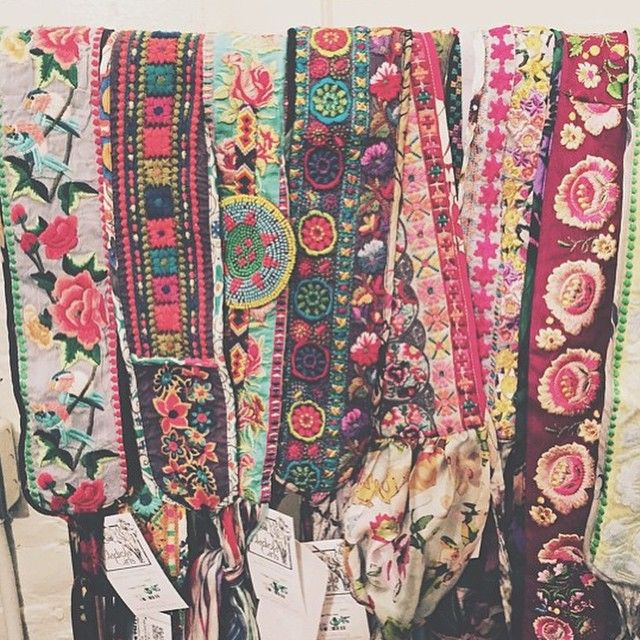 Johnny Was Clothing Bohemian Printed, Beaded, and Embroidered Obi Belts