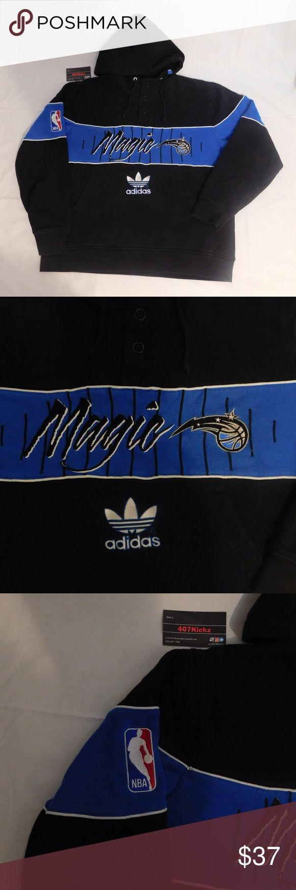 Vintage Magic Hoodie USED Vintage Adidas NBA Orlando Magic Black Blue Hooded Sweatshirt | MENS Size Large | Good condition, minor fading --------------------------------------------------   For Discounts Follow Me on Instagram @407vintage !    TAGS:  , stussy ,  , retro jordan , steal , foams , foamposite , rare , nike air , yeezy boost 350 750 v2 , concord , raging bulls , sade tee , space jam , sbb shattered backboard , don c , special force , limited , OVO , powerphase , calabasas , obama…