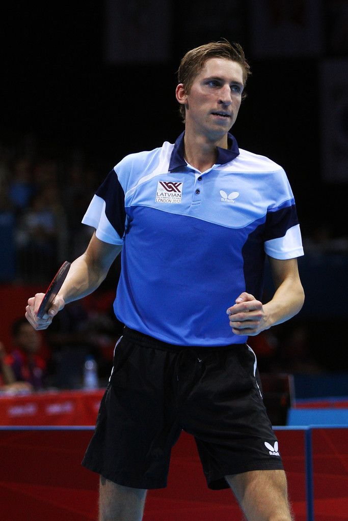 Day 1:  Table Tennis - Men's Singles - Matiss Burgis of Latvia