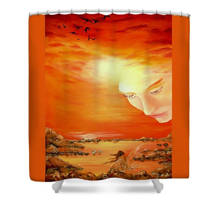 Shower Curtain,  bathroom,accessories,unique,fancy,cool,trendy,artistic,awesome,beautiful,modern,home,decor,design,for,sale,unusual,items,products,ideas,orange,sky,fairy,coastal,sunset