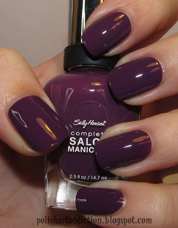 Not this colour but Sally Hansen nail polish is the best, looking for a good dark shade.