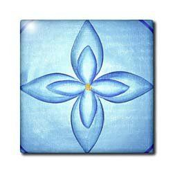 """Blue Lotus Flower - 8 Inch Ceramic Tile by CherylsArt. $17.99. Clean with mild detergent. Image applied to the top surface. Dimensions: 8"""" W x 8"""" H x 1/4"""" D. Construction grade. Floor installation not recommended.. High gloss finish. Blue Lotus Flower Tile is great for a backsplash, countertop or as an accent. This commercial quality construction grade tile has a high gloss finish. The image is applied to the top surface and can be cleaned with a mild detergent."""