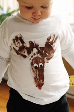 diy Reindeer T-Shirt, so cute!