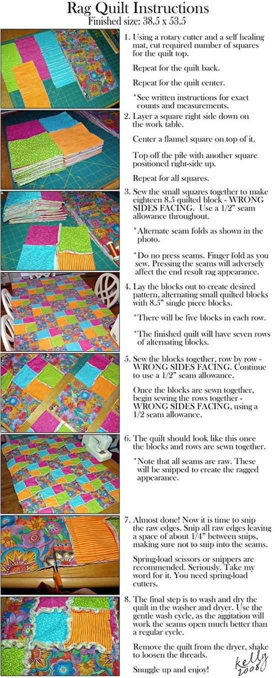 The Edge of Reason: The Perfect Winter Project: Rag Quilts (instructions included)