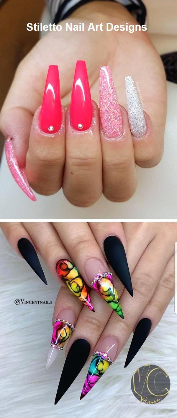 30 große Stiletto Nail Art Design-Ideen #naildesign – Fingernägel