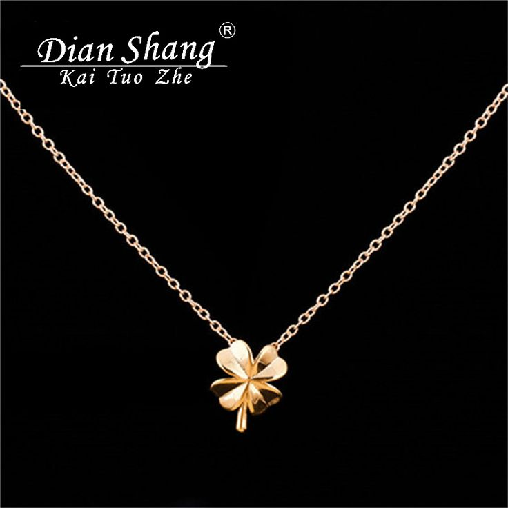 DIANSHANGKAITUOZHE 10pcs/lot Stainless Steel Minimal Four Leaf Clover Necklace Women Dainty Choker Necklace Graduation Jewelry
