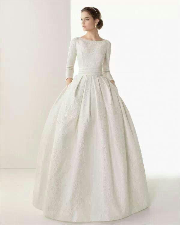 Vestido de novia modesto estilo pinterest for Wedding dresses in modesto ca