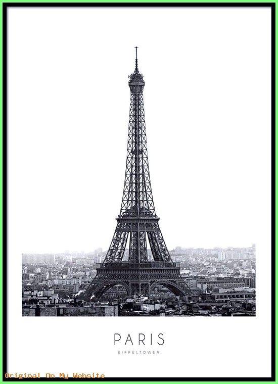 Tumblr Bilder Hintergrund – Poster mit Schwarz-Weiß-Fotografie des Eiffelturms  #tumblrbilder…