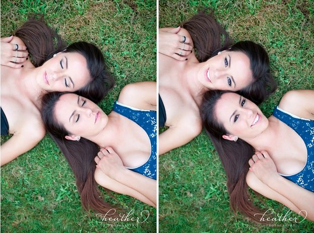 Let your hair down:   34 Beautiful And Creative Photography Ideas For Twins