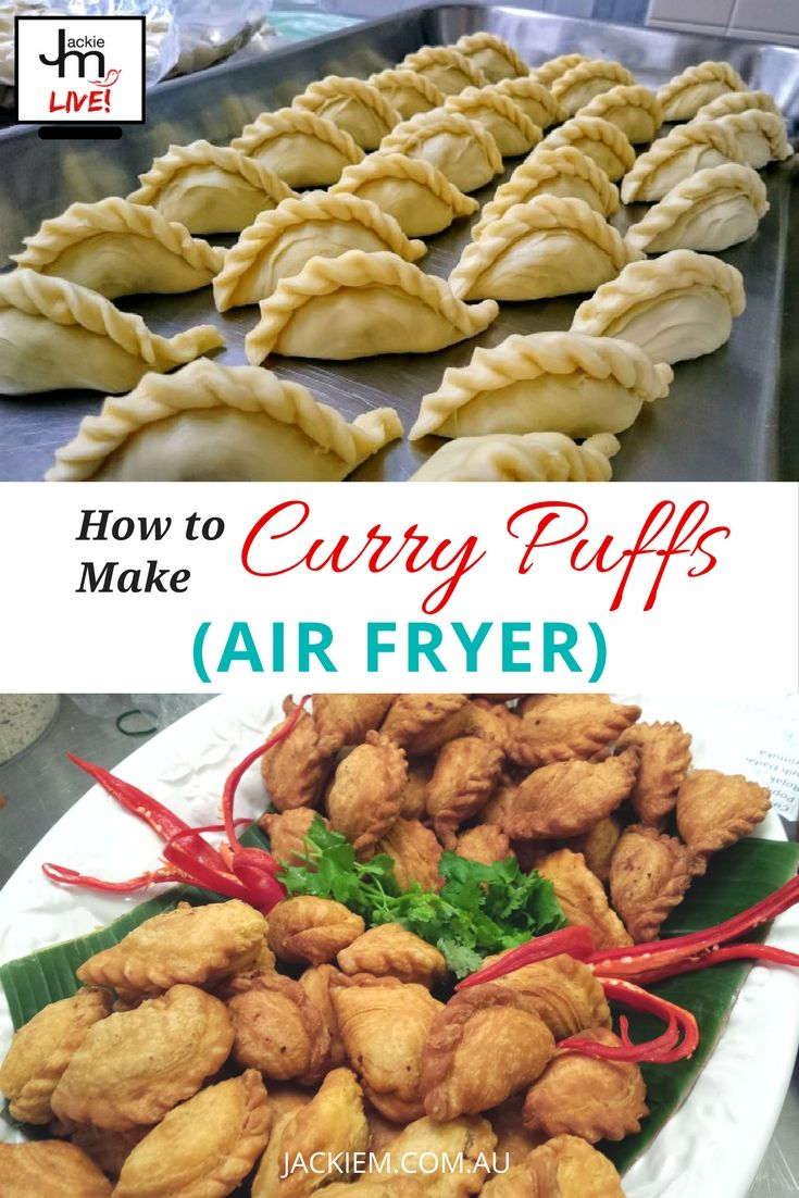 Here's an alternative way to make your own vegan spiral curry puffs using an air fryer. Recipe and replay from Jackie M's LIVE Asian Kitchen.