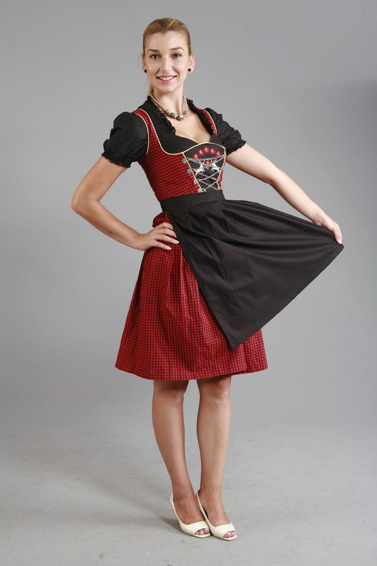 3tlg dirndl rot schwarz kariert mit bluse und schuerze dirndlg nstig dirndl lederhose. Black Bedroom Furniture Sets. Home Design Ideas