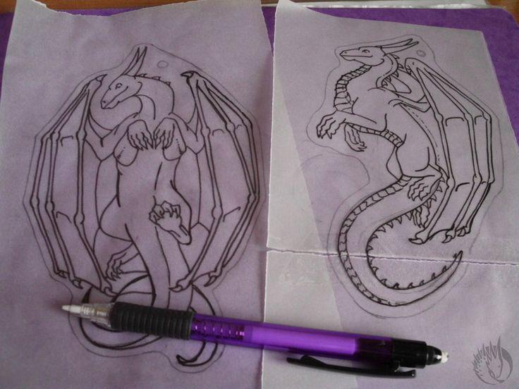 patterns of dragon pendants by MargotShareaza.deviantart.com on @DeviantArt