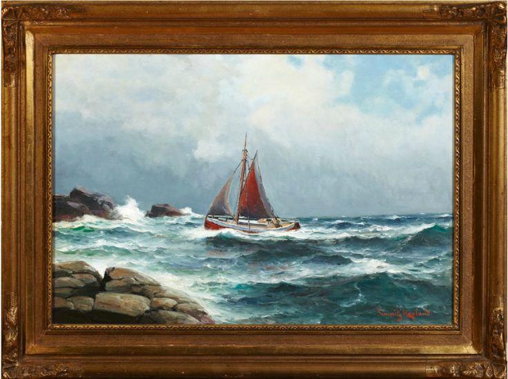 (3) FINN – Flott Maleri av Lauritz Haaland (ny nedsatt pris)