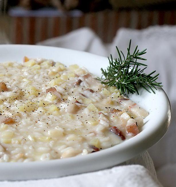 Risotto con il lardo e le patate | http://www.ilpastonudo.it/pasta-e-riso/risotto-con-il-lardo-e-le-patate/