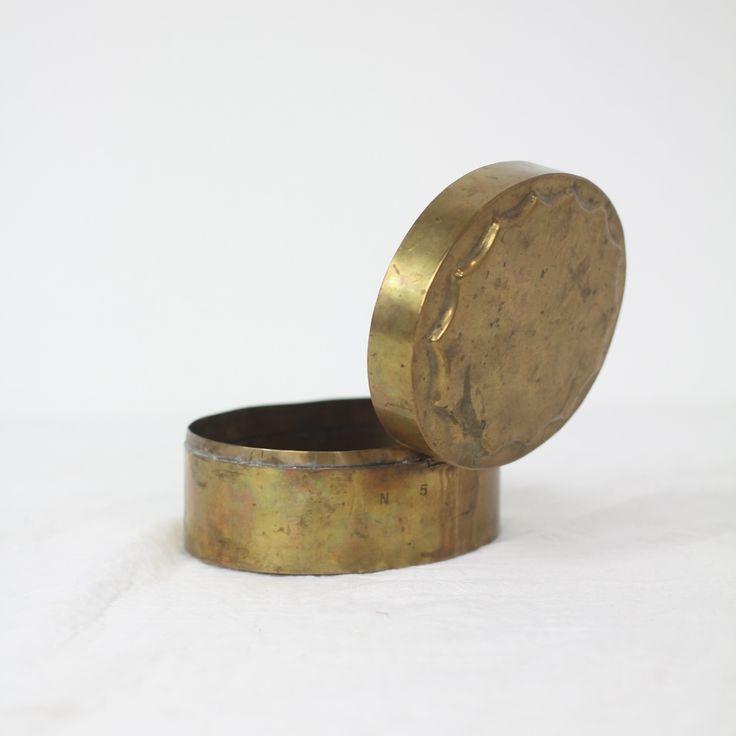 vintage brass box.