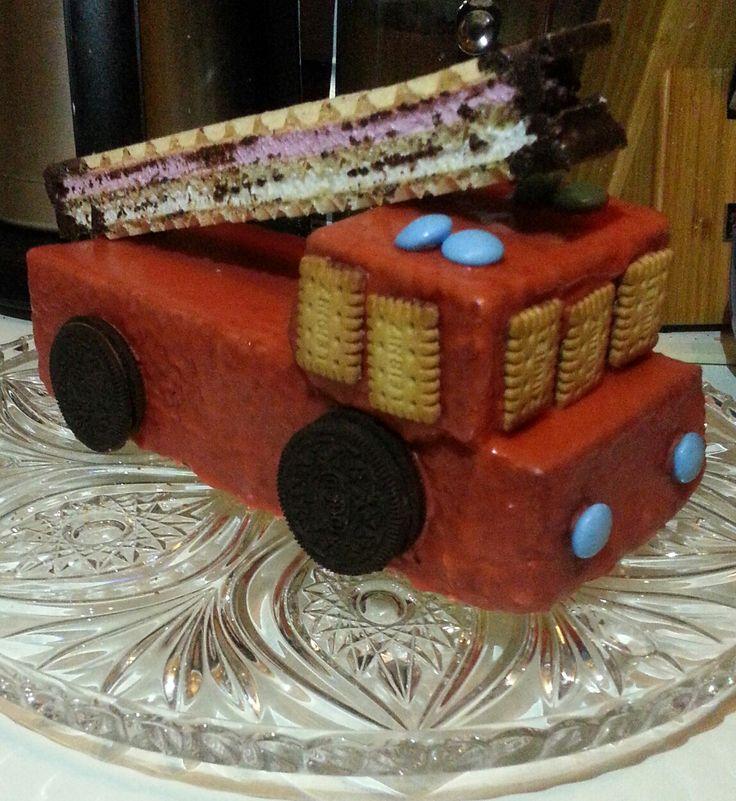 Feuerwehr Kuchen zum Geburtstag meines Sohnes :)