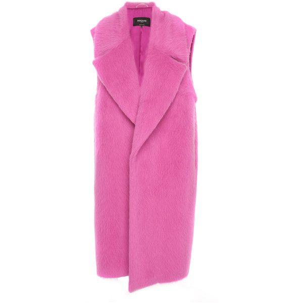 Sleeveless Alpaca Coat   Moda Operandi ($1,495) ❤ liked on Polyvore featuring outerwear, coats, sleeveless coats, alpaca coat, calf-length coats, alpaca wool coats and midi coat