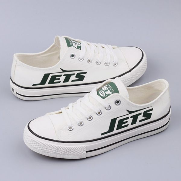 New York Jets Converse Style Shoes - http://cutesportsfan.com/new-york-jets-designed-sneakers/