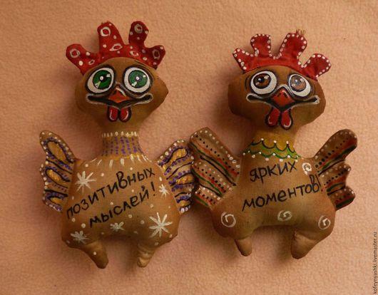 Toy animals, handmade.  Fair Masters - handmade.  Buy New Year's Petrushka.  Handmade.  Brown, textile toy