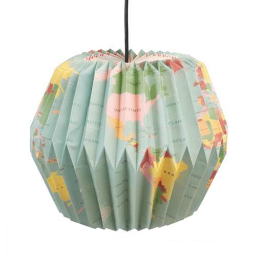 """Suspension  décorative Suspension papier """"Carte du Monde"""" Suspension papier """"Carte du Monde"""""""