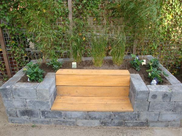 25 beste idee n over plantenbakken op pinterest - Bank terras hout ...