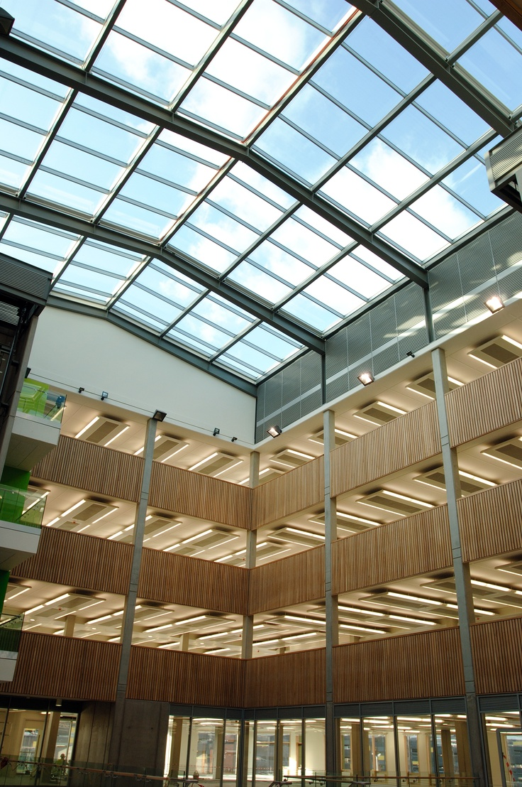 Schueco Fw Curtain Wall Dual Pitch Roof Light