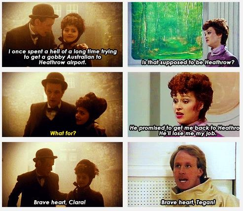 Series 7, Episode 11: The Crimson Horror /Season 19, Series 4, Episode 1: The Visitation (Tegan and the Fifth Doctor)