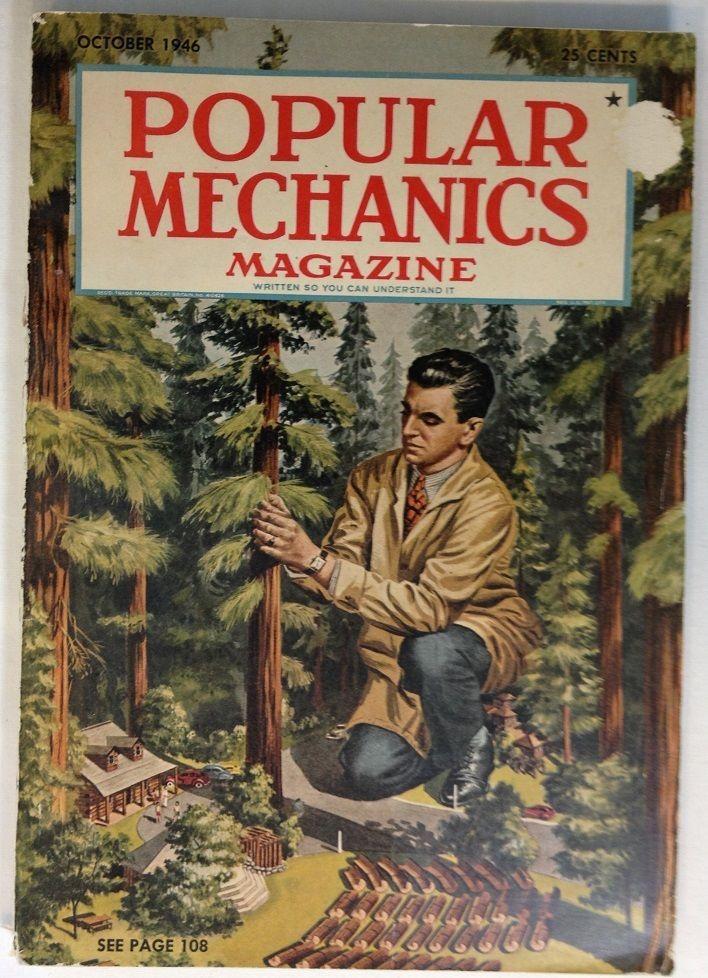 POPULAR MECHANICS MAGAZINE / Oct. 1946 / Volume 86 / Vintage / 320 Pages