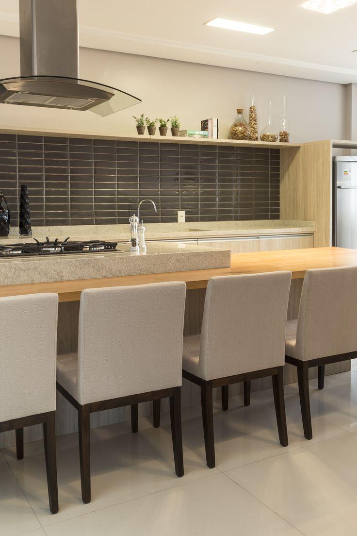 Espaço Gourmet | Cozinha | Salão de festas | Projeto Ana Trevisan Arquitetura e Paisagismo Florianópolis - SC