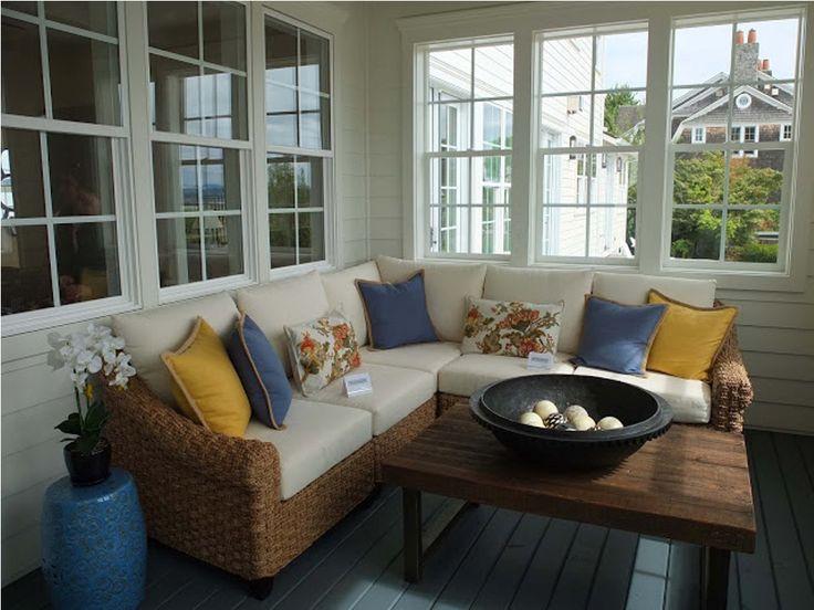 best 25 enclosed porch decorating ideas on pinterest. Black Bedroom Furniture Sets. Home Design Ideas