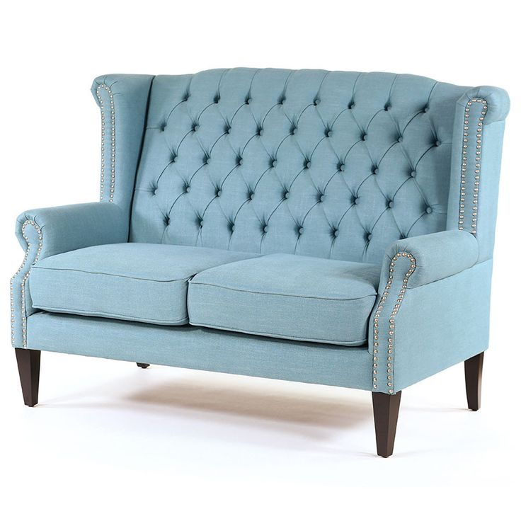 With a classic wingback design the Royale Wingback Loveseat in Teal is the epitome of luxury, sophistication and elegance in 2 Seater Sofas. Built with solid...