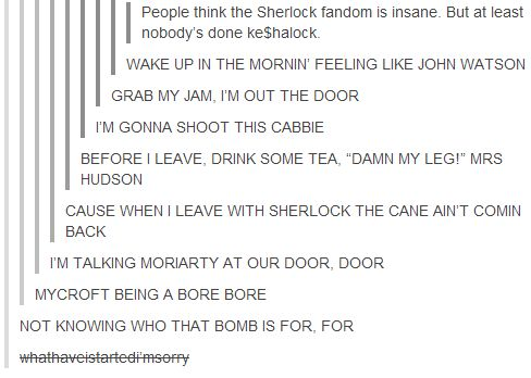 You don't challenge the Sherlock fandom - we're nerdy and bored waiting on season 3