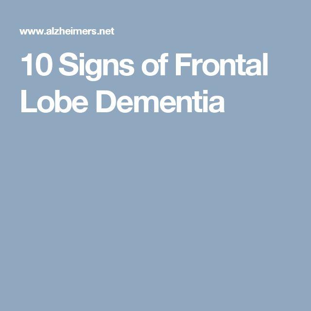Best 25+ Frontal lobe dementia ideas on Pinterest | Function of ...