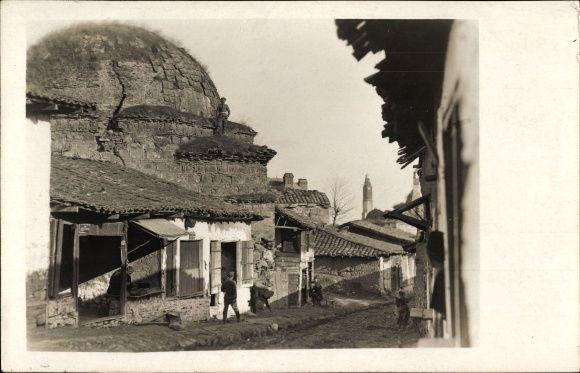 Foto Ansichtskarte / Postkarte Prilep Mazedonien, Straßenbild, Alte Moschee, I. WK – Medina A.
