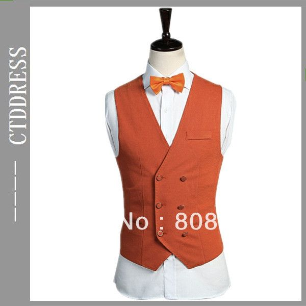 Find More Vests Information about latest design fashion organge double breasted men waistcoat designer 2013,High Quality waistcoat designs for women,China fashion space Suppliers, Cheap fashion design summer camp from CTD brand dress on Aliexpress.com